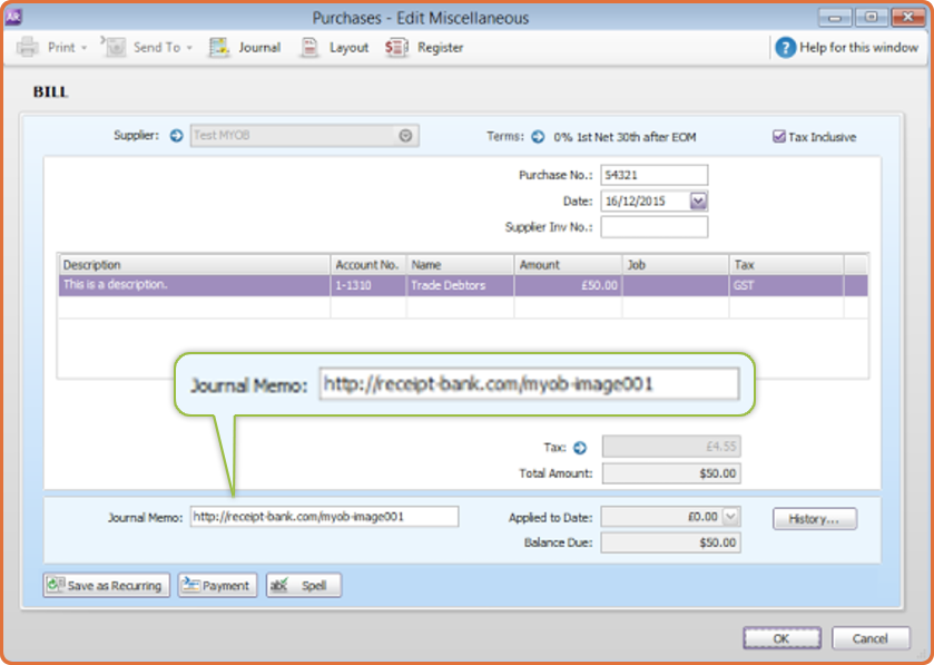 Where Do My Images Go In MYOB AccountRight Live Receipt Bank - Can you use an invoice as a receipt